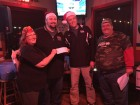 Pete Zaleski of Phillips Drugs presents the $1000 check for Toys for Tots!
